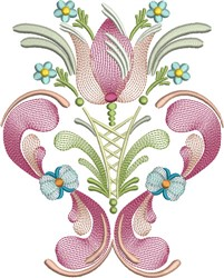 Tulip Flower embroidery design