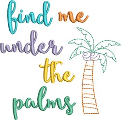 Under The Palms embroidery design