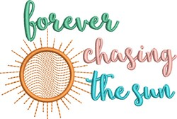 Chasing The Sun embroidery design