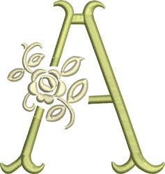 Tuscan Rose Monogram A embroidery design