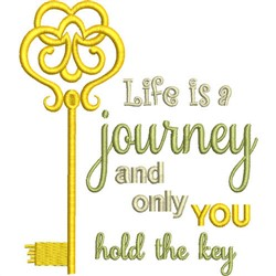 Life Is Journey embroidery design