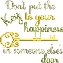 Key To Your Happiness embroidery design
