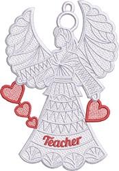 FSL Teacher Angel embroidery design