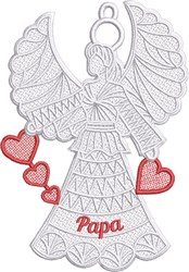 FSL Papa Angel embroidery design