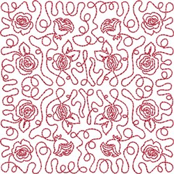 Free Motion Roses embroidery design
