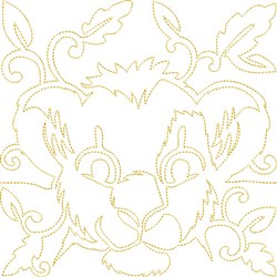 Quilt Block Lion embroidery design