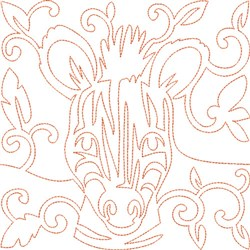 Quilt Block Zebra embroidery design