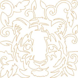 Quilt Block Tiger embroidery design