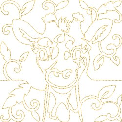 Quilt Block Giraffe embroidery design