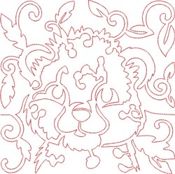 Quilt Block Leopaard embroidery design
