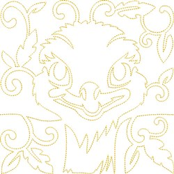 Quilt Block Ostrich embroidery design