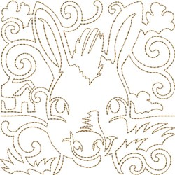 Donkey Quilt Block embroidery design