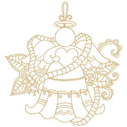 Quilt Block Angel embroidery design