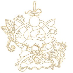 Quilt Angel embroidery design