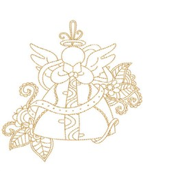 Flower Angel Quilt Block embroidery design