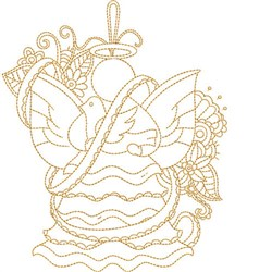 Angel & Dove Quilt Block embroidery design
