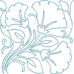 Quilt Blocks Flowers embroidery design