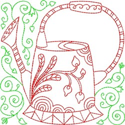 Quilt Water Can embroidery design