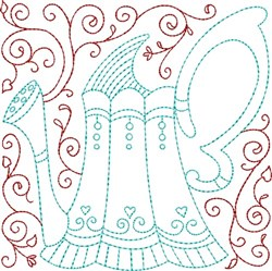 Water Can Quilt embroidery design