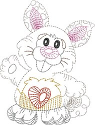 Rabbit Outline embroidery design