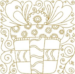 Gift Quilt Block embroidery design