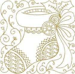 Stocking Quilt Block embroidery design