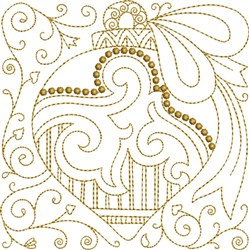 Christmas Ornament Block embroidery design
