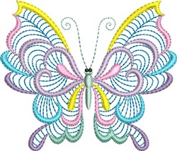 Butterfly Pastel embroidery design