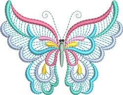 Pastel Butterflies embroidery design