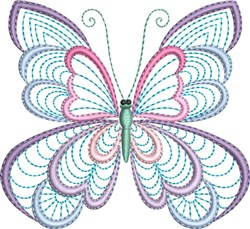 Pastel Butterfly embroidery design