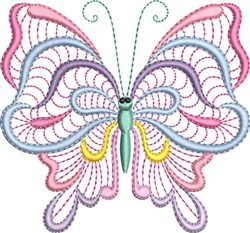 Butterfly Pastels embroidery design