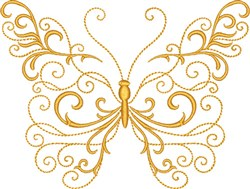 Gold Butterfly embroidery design
