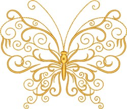 Swirl Butterfly embroidery design