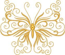Fancy Butterfly embroidery design