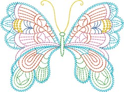 Whimsical Butterfly embroidery design