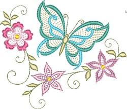 Butterflies & Flowers 3 embroidery design