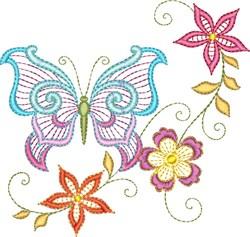 Butterflies Florals embroidery design