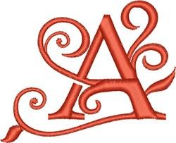 Elegant Monogram Font A embroidery design
