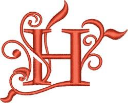 Elegant Monogram Font H embroidery design