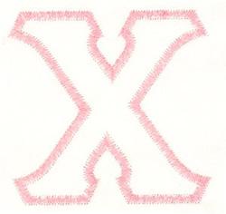 Greek Chi Applique embroidery design