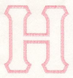 Greek Eta Applique embroidery design