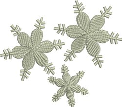 Filled Snowflakes embroidery design