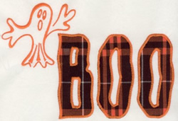 Boo Ghost Applique embroidery design