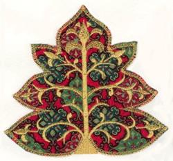 Festive Applique Tree embroidery design