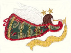 Trumpeter Angel Applique embroidery design