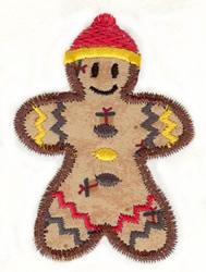 Gingerbread Boy Applique embroidery design