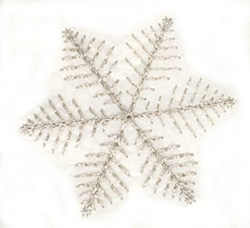 Feather Snowflake embroidery design