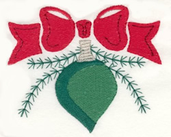 Bow Light embroidery design