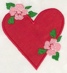 Heart & Flower Applique embroidery design
