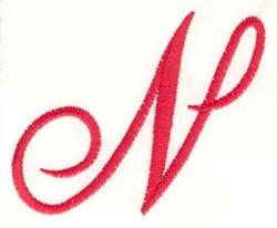 Fancy Monogram N embroidery design